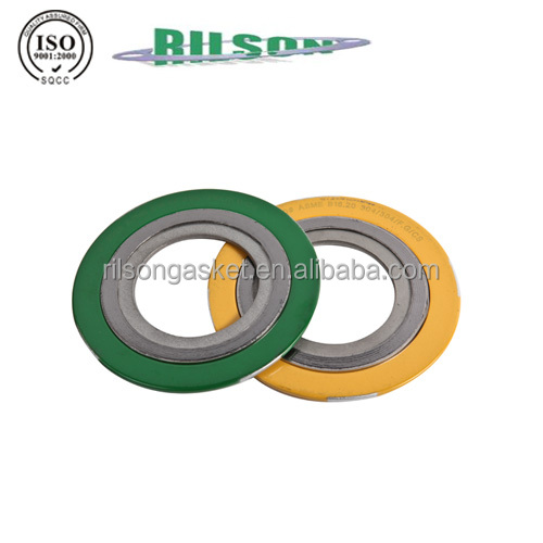 Hot Sales ASME B16.20 Rilson Manufacturers Spiral Wound Metal Gaskets with Carbon Steel ss304 Graphite FOB price