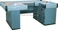 pos cash factory sales checkout counter with conveyor
