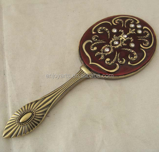 Hot sale wedding gift metal hand mirror (P04020a)