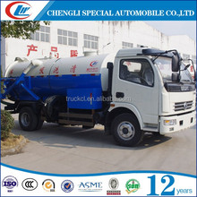Promotional 5000Liters sludge suction truck with vacuum pump for sale in Oman
