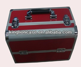 beauty case red vanity train makeup box KL-H378