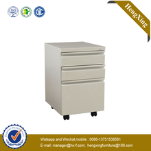Space saving mobile pedestal 3 drawers Metal file Cabinet (HX-CC38)