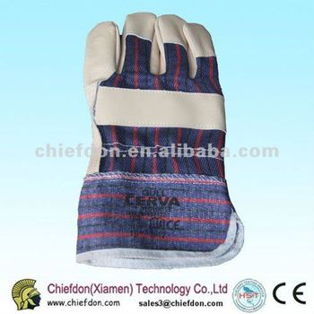 cow grain leather working glove for industrial