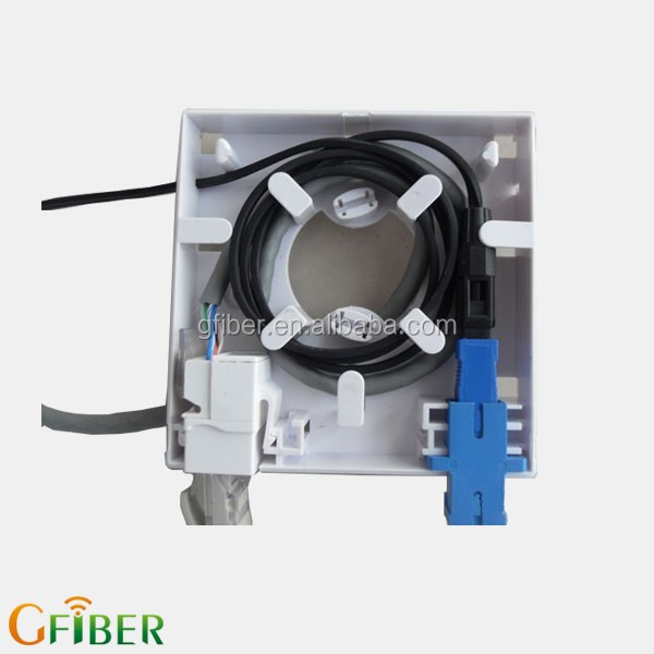 Gfiber FTTH fiber optic 2 fiber wall outlet mini distribution box