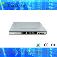 Made in China Supplier 10/100M Desktop 24 port PoE Switch