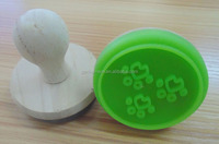 silicone cookie press stamper molds rubber stamp machine price