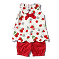 lovely sweet girl strawberry tank top red top wholesale baby clothing