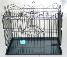 New design home & garden chrome plated beautiful metal pet house commercial dog cage