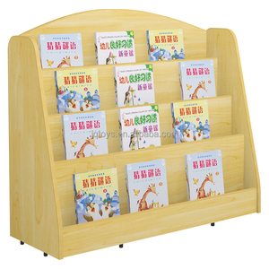Jingqi Wooden children daycare Book Shelf/kids book shelf/girl boy Labirary furniture