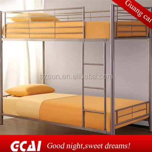 2015 hot selling factory directly cheap selling adult separable double decker metal bed frame