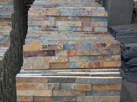 Black yellow cheap stone veneer cultured stone prices Rusty exterior wall cladding slate Tiles