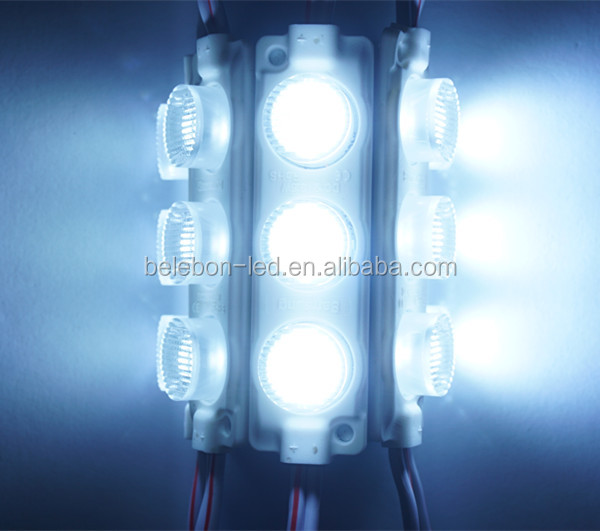 High brightness double side lighting box high power injection led module 3W