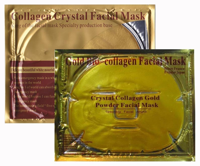 best seller of 2014 liquid gold collagen crystal facial mask