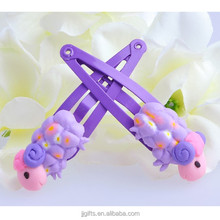 Sheep style hair accessories lady hair clips polymer style hair clips for baby