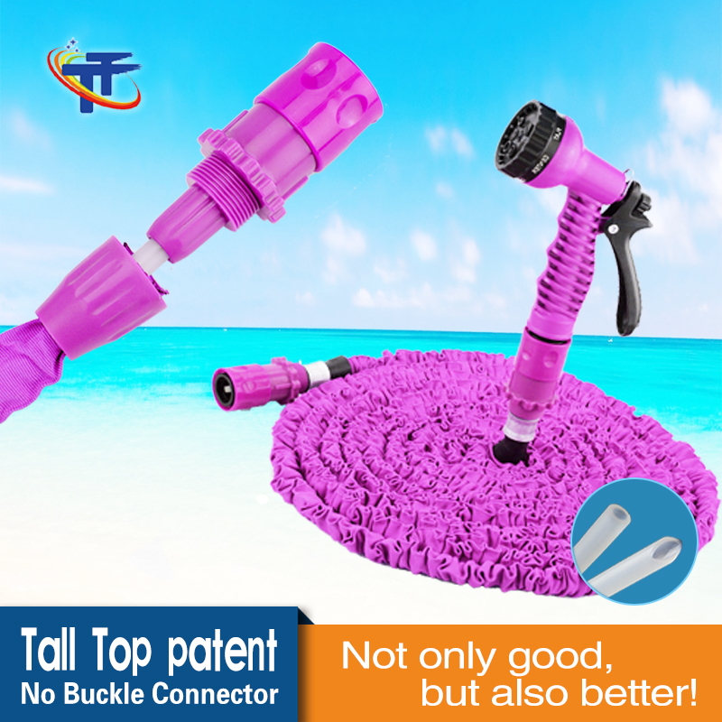 Tall-Top 2016 Newest High Quality No Buckle Tech Expandable Hose Magic Hose Pipe Pink Flexible Garden Hose 50FT TA69050-35