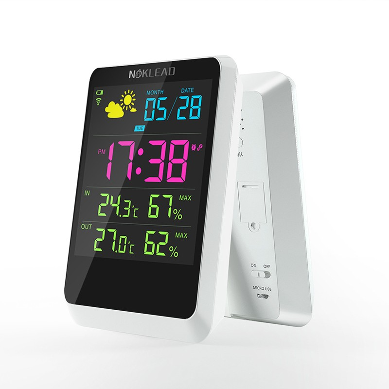 clock home color screen forecast weather station