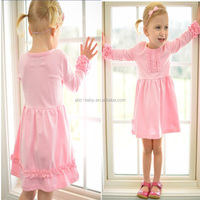 Hot sale new model girl dress one piece girls party dresses dress baby girl