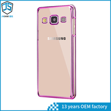Hot Selling Crystal Clear Electroplate Soft Tpu Case for samsung A7 2017