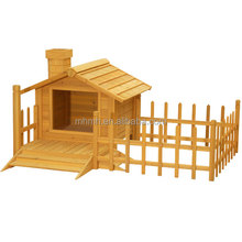 Balcony Painting Wood Dog House with barrier