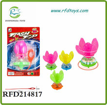 Spinning top toys flashing light pull line spinning top