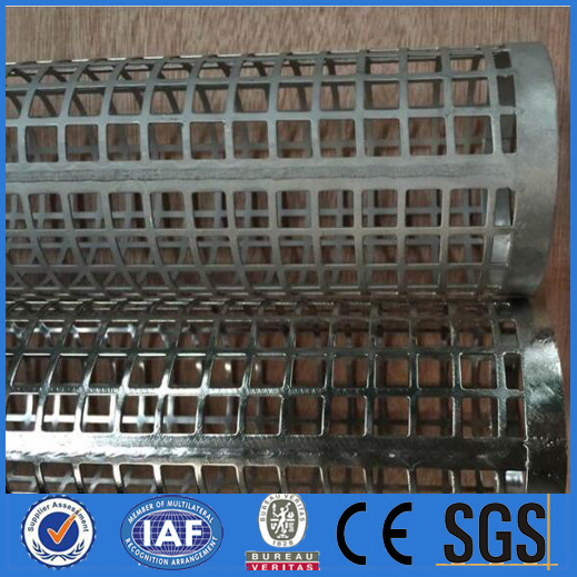 Perforated round steel tube filter