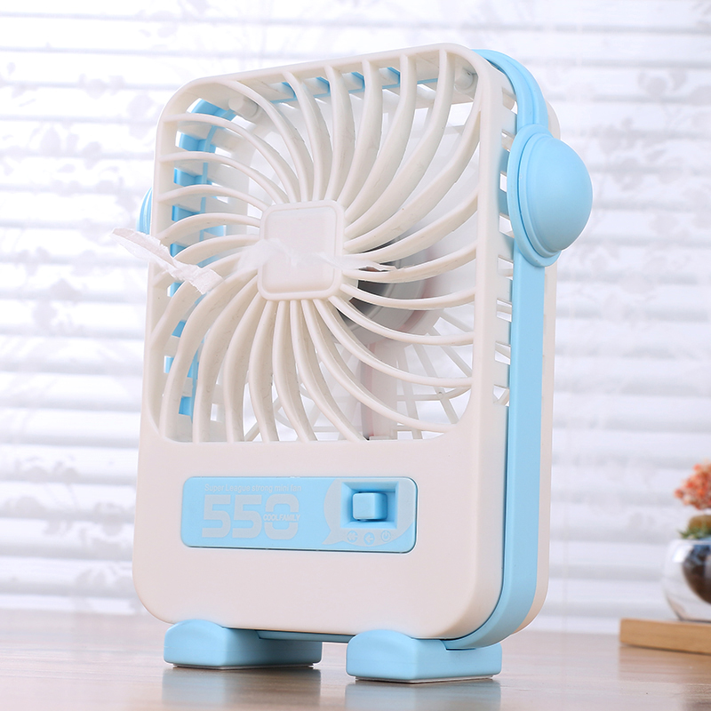 Square type hand held USB desk portable mini fan toy