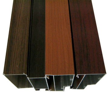 Wood grain aluminium profile