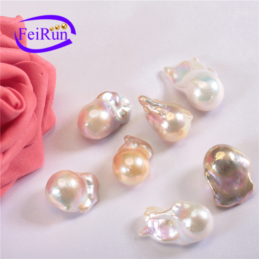 15-16mm AA+ multi color large size baroque freshwater loose pearl