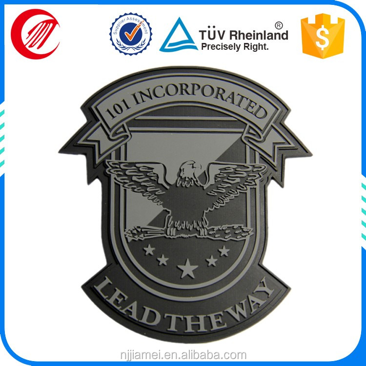 Micro-injected Raised Rubber Patch Logo For Different Kinds Of Clothes