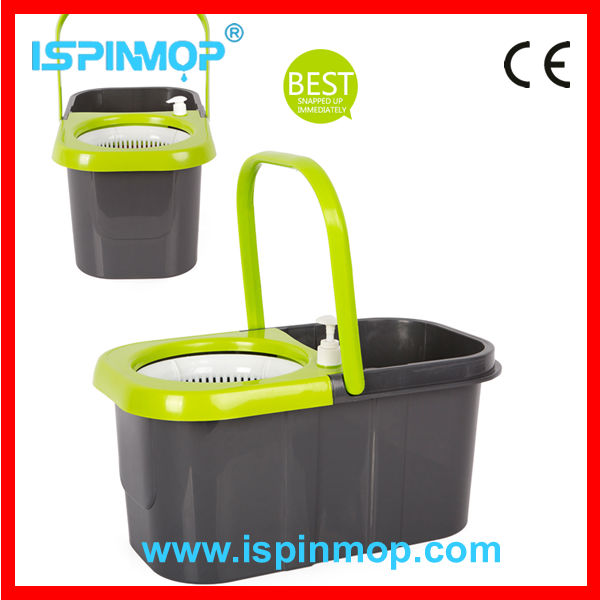 Best selling high quality circular mop with stainless steel basket