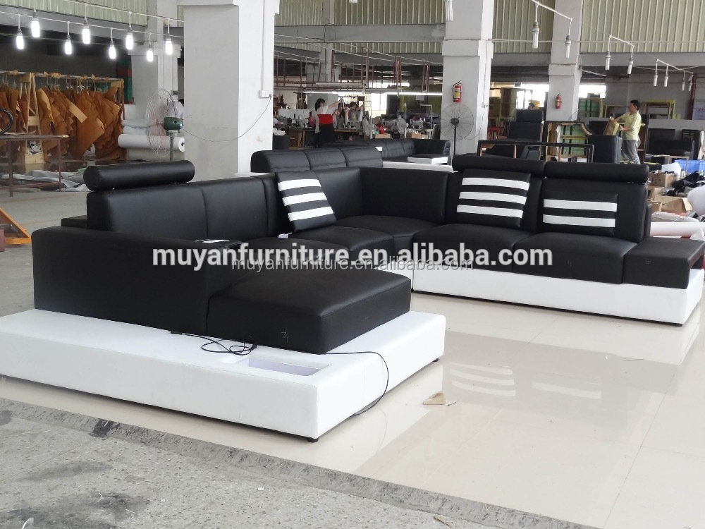 2016 New off white leather sofa hotel bedroom furniture