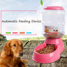 Plastic Large Capacity Automatic Pet Dog Food Feeder