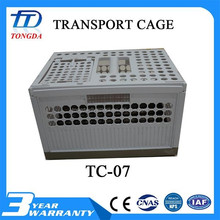 Plastic folding storage cage/mesh container/butterfly cage for shipping made in China