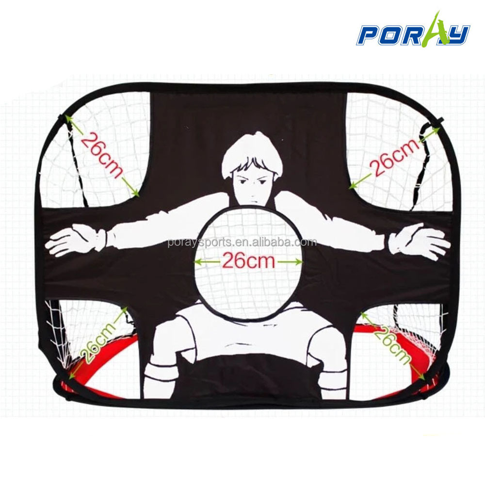 2-in-1 Pop Up Goal Net Football Soccer Hockey goals Sports Foldable Portable