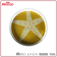 EX-factory prices yellow star printing fruit serving round melamine recyclable trays