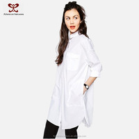 Blouses 2016 New Designs White Shirt Ropa Mujer Front Short Long After Sexy Office Fashion Design Lady Blouse