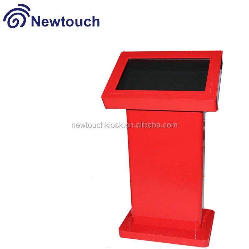 21 inch standing floor advertising player/self info query touch screen kiosk
