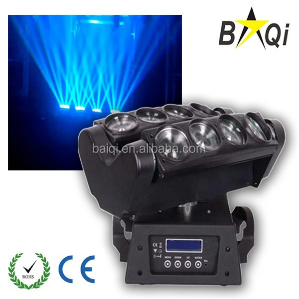 daily news guangzhou baiyun shijing stage lighting 8*12w rgbw full color led spider 4-in-1 led moving head