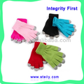Five-Finger Promotional Fashion warm screen gloves for touch screen for all smart mobilephone tablet PC