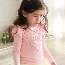 d20997f 2015 autumn new fashion girl shirt kids casual tops long sleeve shirt children clothing