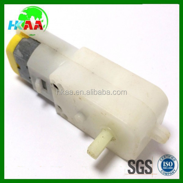 Customized plastic dc gear motor for robot or wheel car with high quality