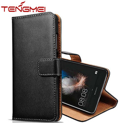 Genuine leather flip business case for Huawei P8 Lite