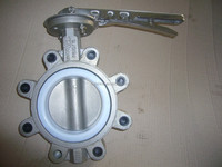 Butterfly valve---stainless steel Lug type butterfly valve with pin, ISO 5211 top flange, light in weight
