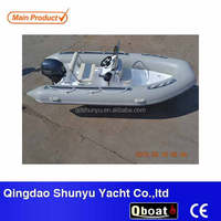 CE Certificate fiberglass rigid hull inflatable boat for sale