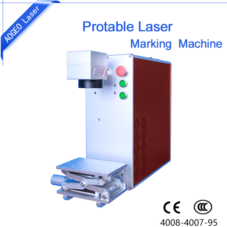 Desktop/Portable Automatic Lifter 10W 20W 30W Fiber Laser Marking Machines For Flat Tube Metal Nonmetal marking