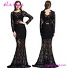 Paypal Accepted Transparent Black Maxi Lace Gown Long Evening Dress