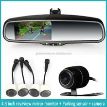 4.3'' auto dimming Rearview Mirror monitor bluetooth car mirror parking sensor