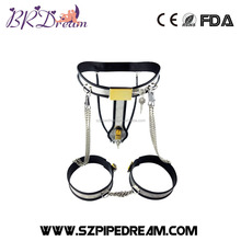 Stainless Steel Female Underwear Chastity Belt,Y-type Chastity lock