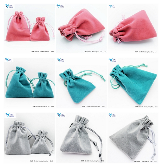 26 colors Customized Cheap Wholesale Jewelry velvet drawstring Bags/velvet drawstring pouch WITH LOGO