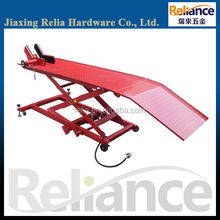 1000 LBS Air Hydraulic Motorcycle Scissor Lift Table With Wheel Vise